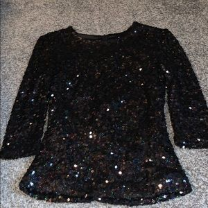 French connection black sparkly top✨🖤